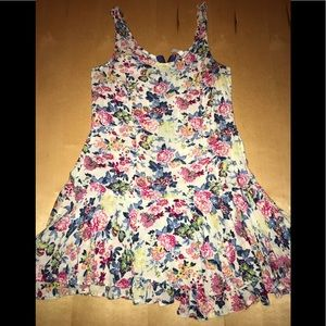 EUC Free People Floral Print Mini Layered Dress 2